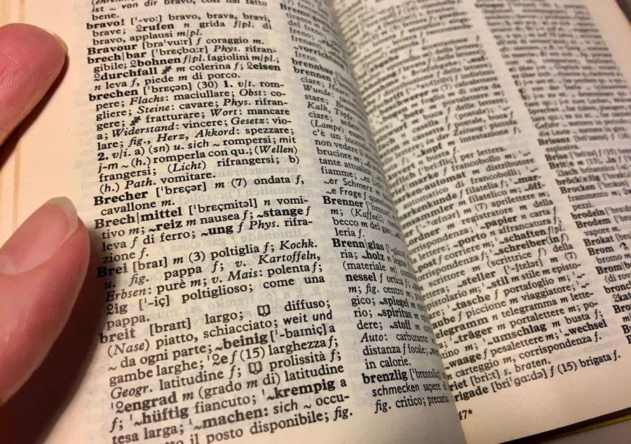 Ein italienisches Wörterbuch