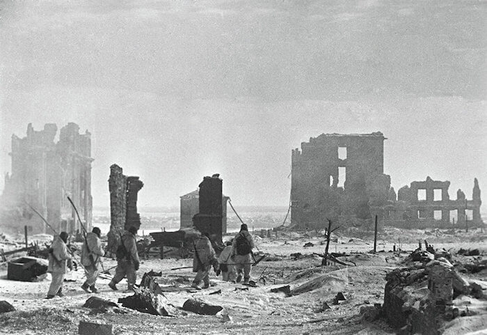 Das zerstörte Stalingrad im Winter 42. Foto: Sputnik. Georgi Zelma