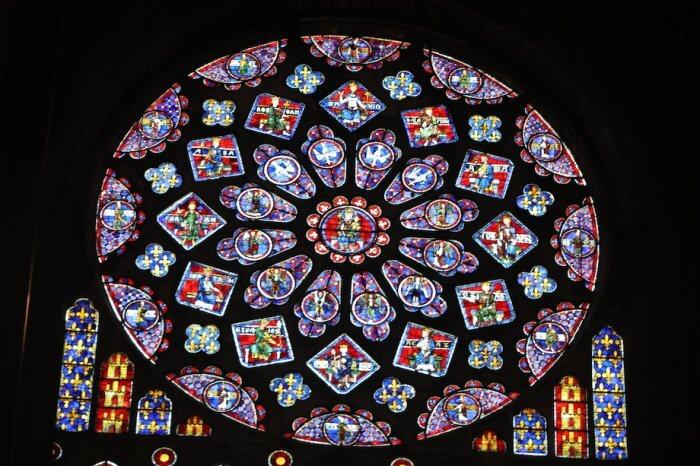 Die berühmte Rosette der Kathedrale von Chartres. Foto: Stephan Bleek