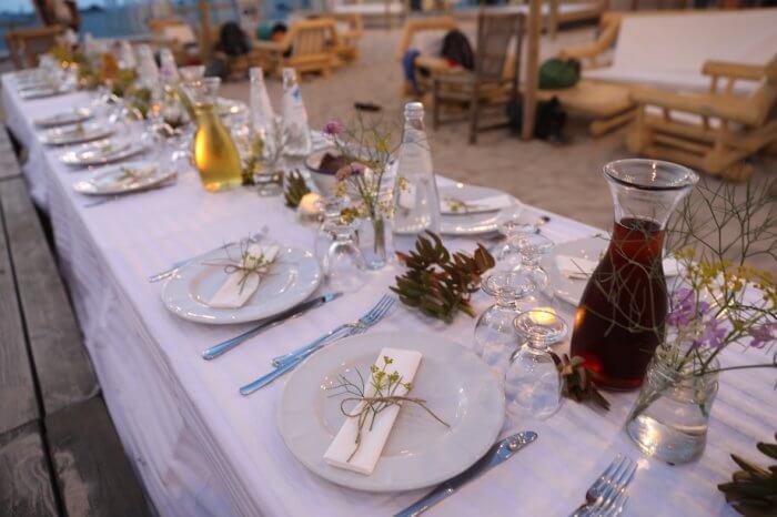 Es gab leckeren Fisch und köstlichen Wein. Foto: Stephan Bleek