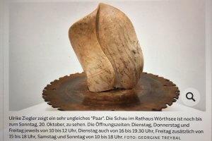 Foto meiner Skulptur in der SZ. Foto: Ulrike Ziegler