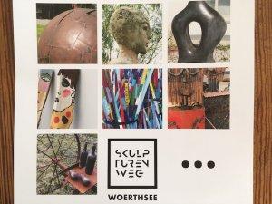 Plakat des Wörthseer Skulpturenwegs. Foto: Ulrike Ziegler
