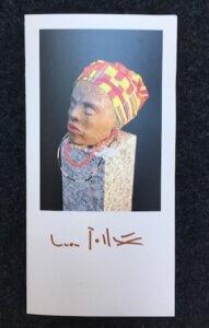 Flyer zur Ausstellung Menschen von Leon Pollux. Foto: Ulrike Ziegler