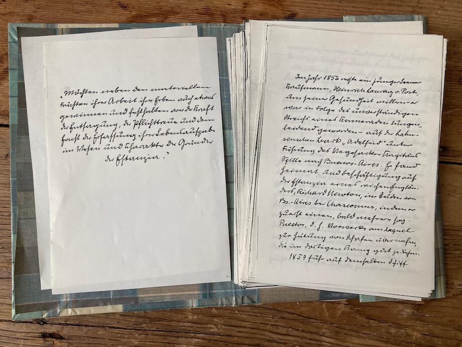 Handgeschriebenes Dokument. Foto: Ulrike Ziegler