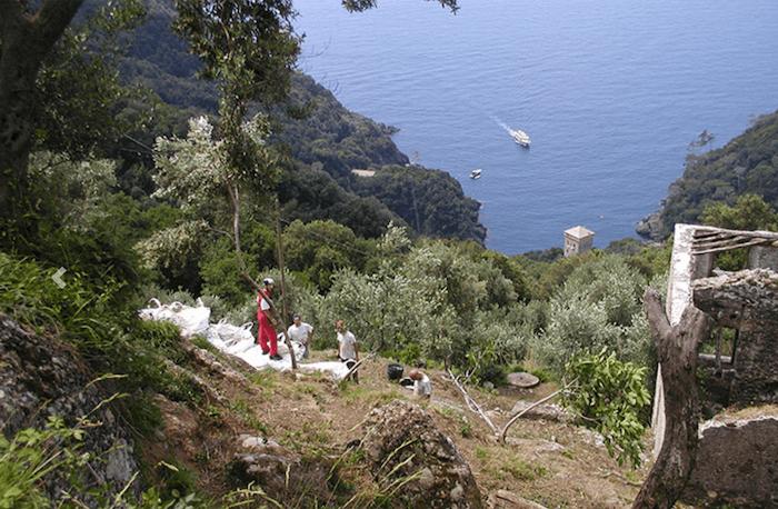 Blick vom Agririfugio aufs Meer. Foto: Privat